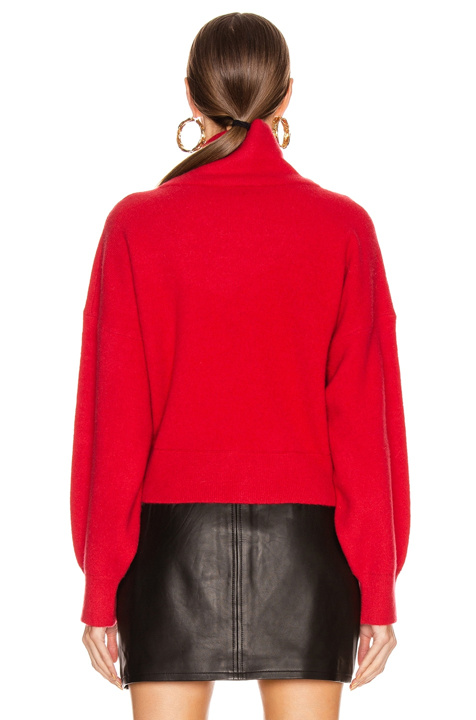 Image 3 of Equipment Aixenne Turtleneck Sweater in Rio Red