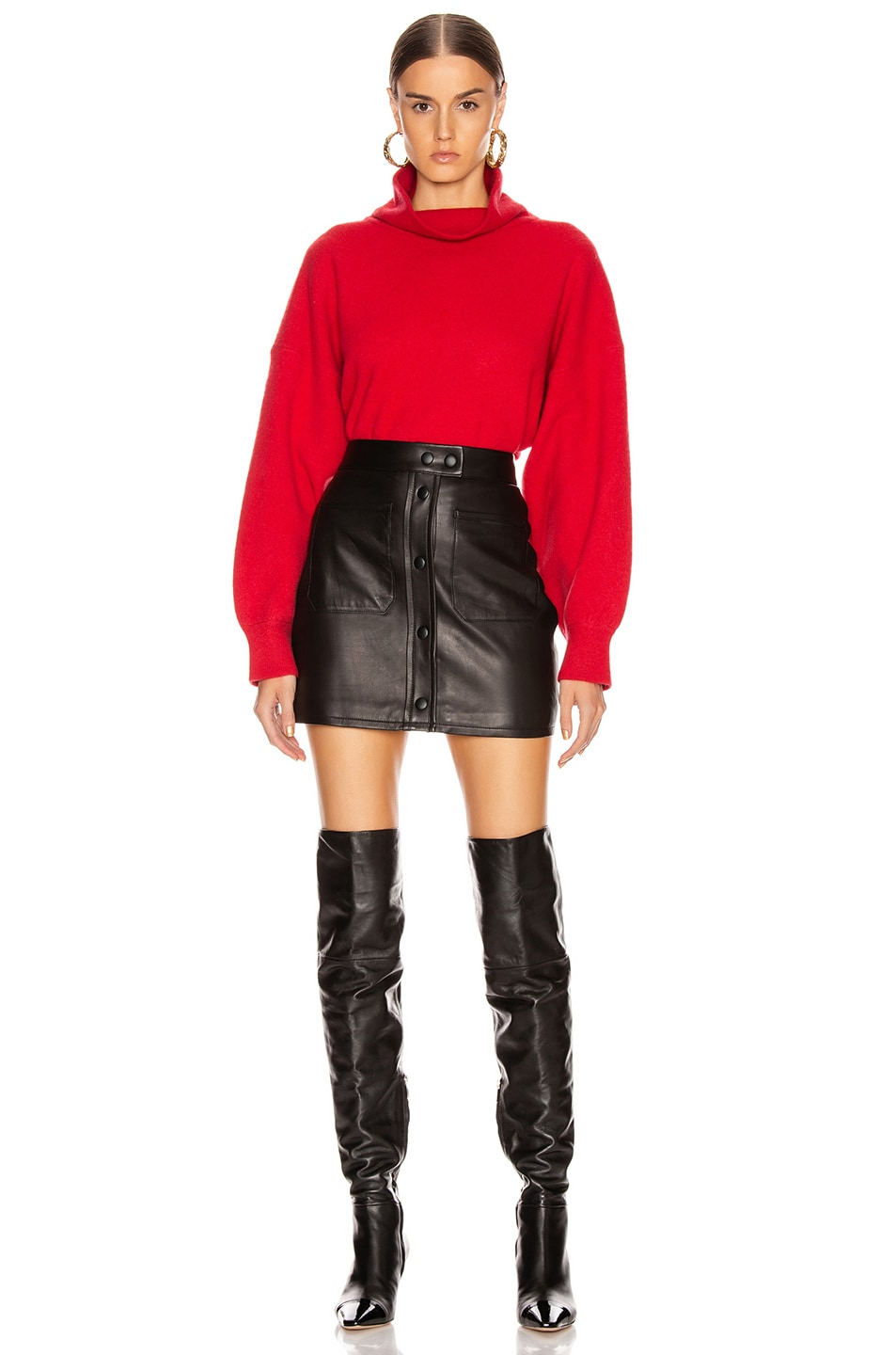 Image 4 of Equipment Aixenne Turtleneck Sweater in Rio Red