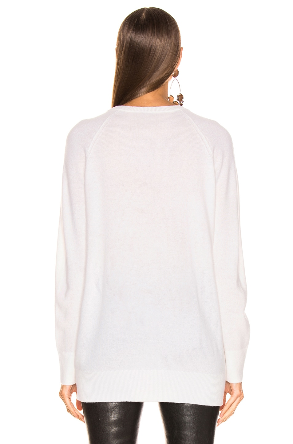 Image 3 of Equipment Asher Cashmere V Neck in Ivory