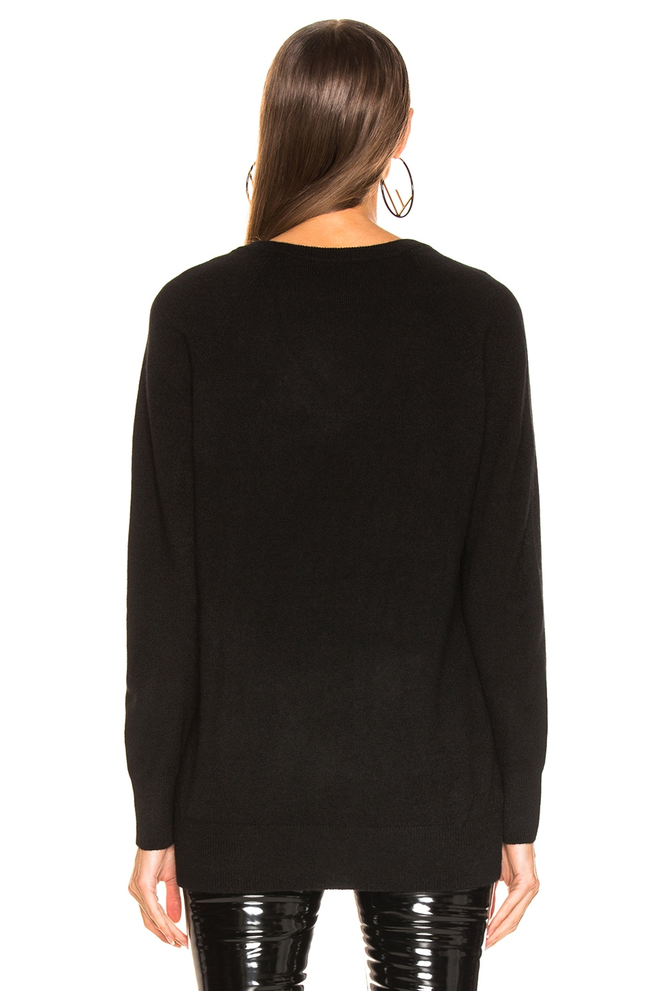 Image 3 of Equipment Asher Cashmere V Neck in Black