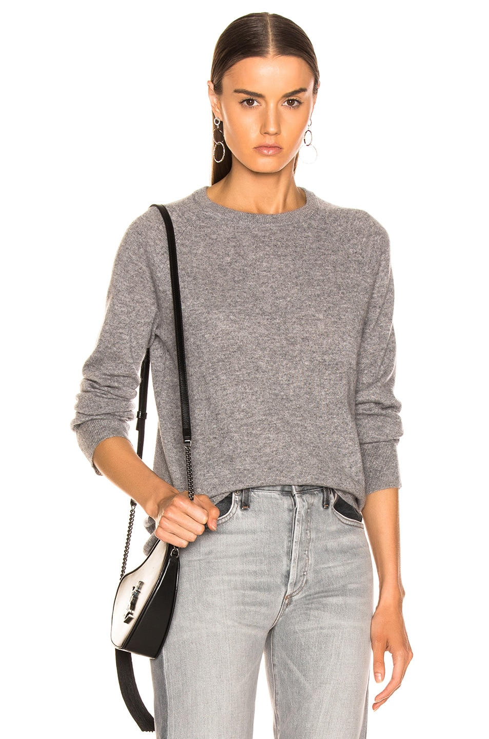 Image 1 of Equipment Sloane Cashmere Crew in Heather Grey