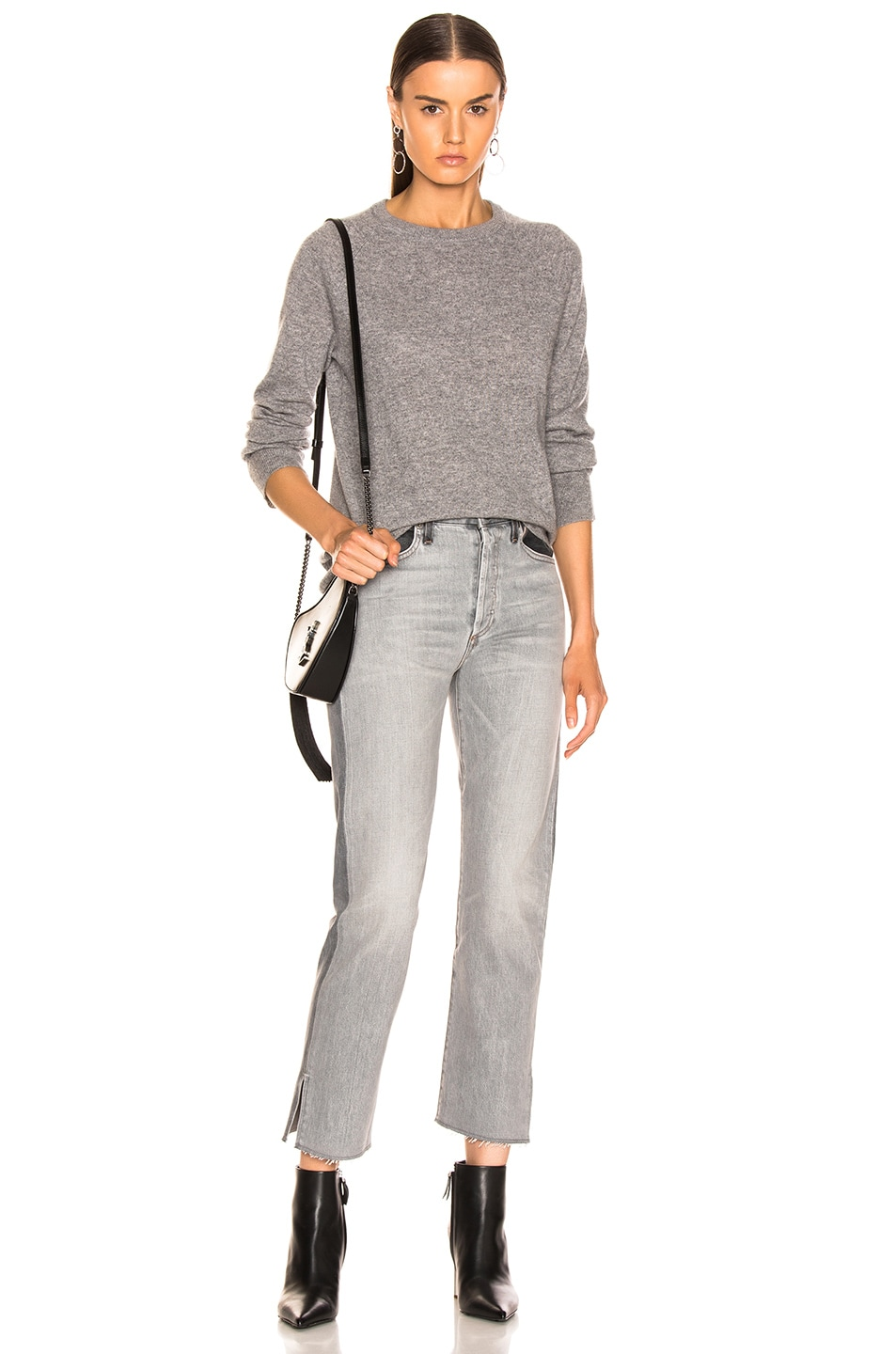 Image 4 of Equipment Sloane Cashmere Crew in Heather Grey