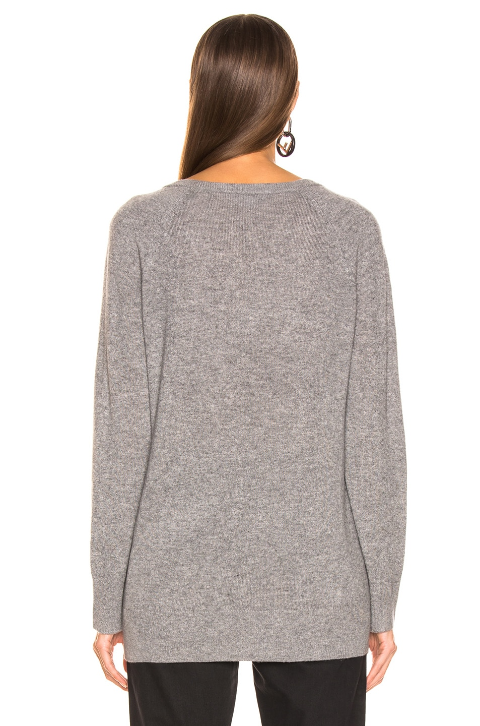 Image 3 of Equipment Asher Cashmere V Neck in Heather Gray