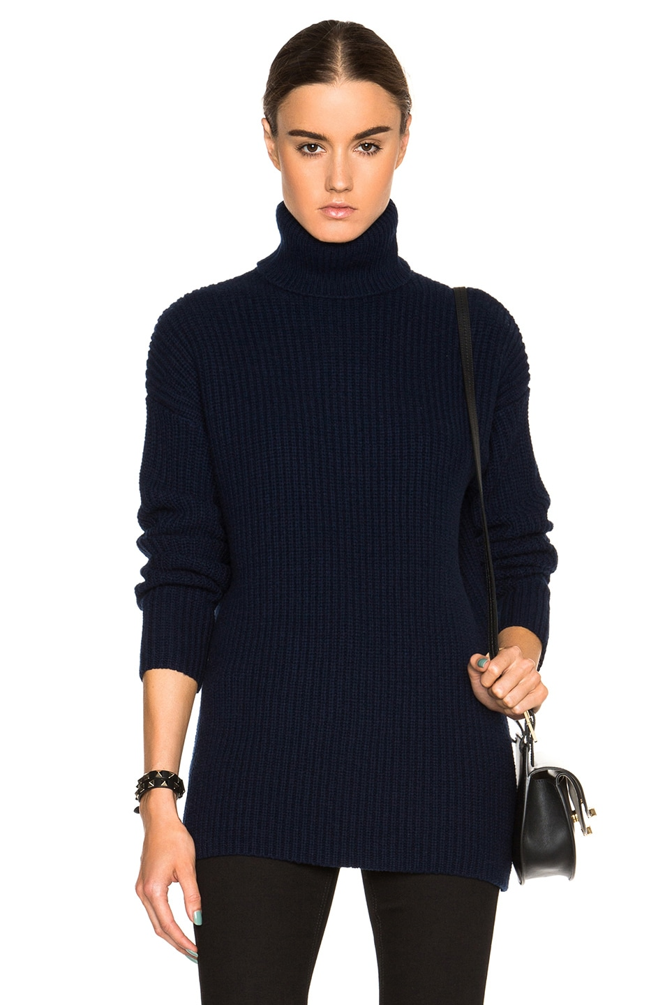Image 1 of Equipment Tyson Turtleneck Sweater in Peacoat