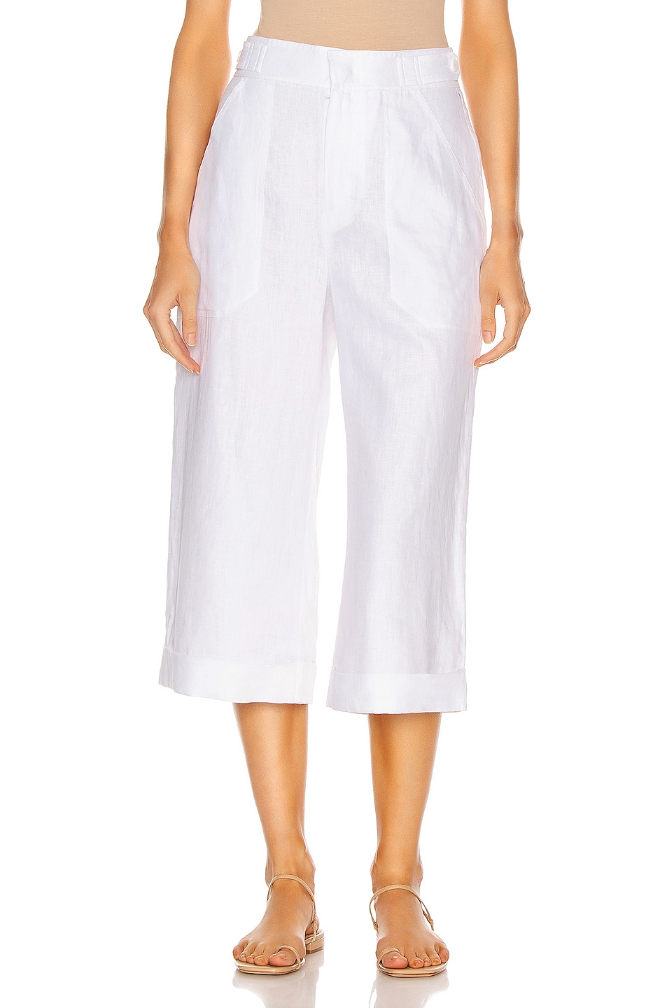 Image 1 of Equipment Kalil Linen Pant in Bright White