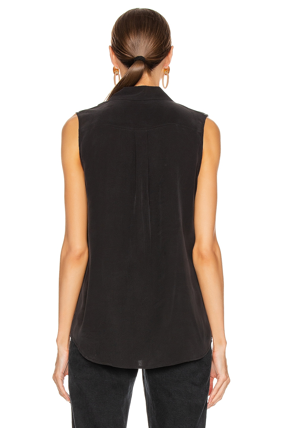 Image 3 of Equipment Slim Signature Top in True Black