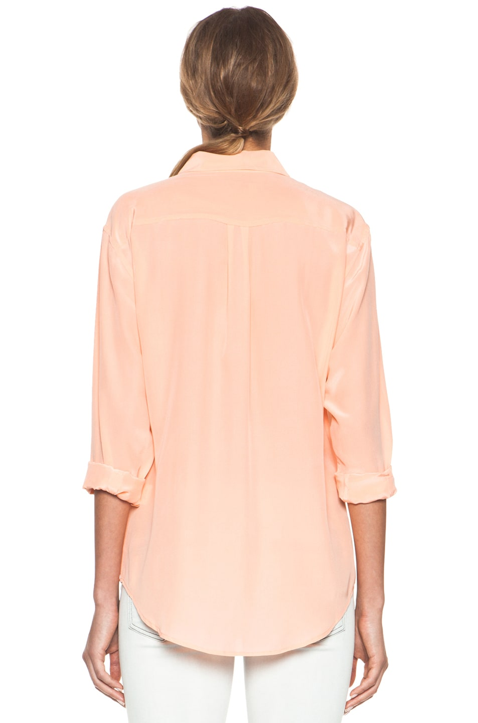 00ea77af7f8a30 Image 4 of Equipment Signature Blouse in Peach Nectar