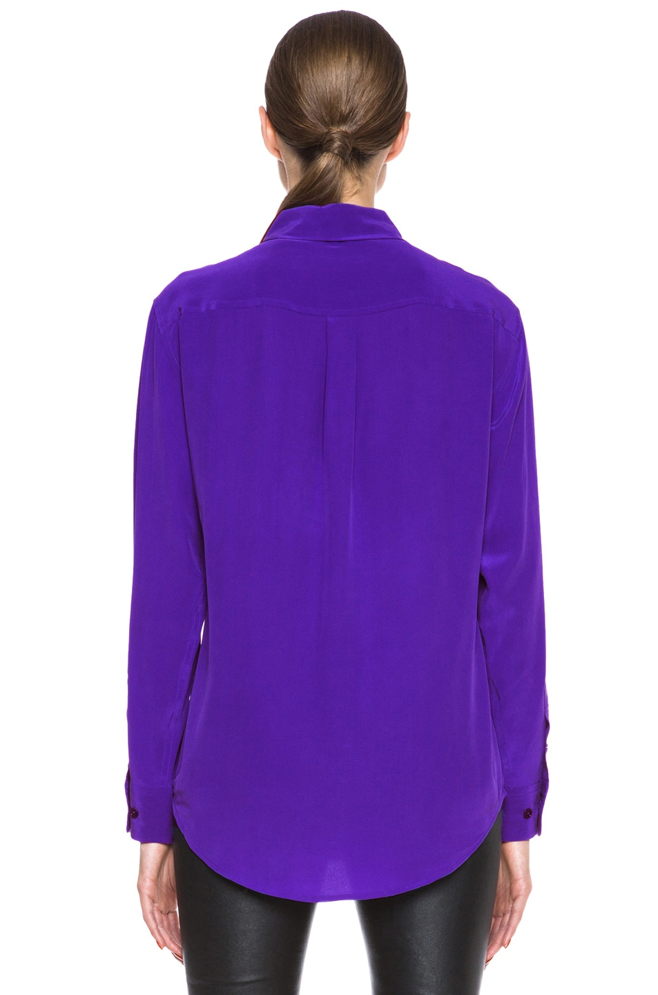 Image 4 of Equipment Signature Silk Blouse in Deep Blue