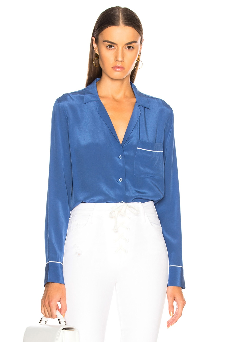 Image 1 of Equipment Keira Blouse in Letterman Blue