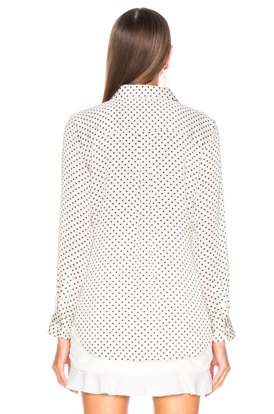 Image 3 of Equipment Slim Signature Blouse in Natural White & Eclipse