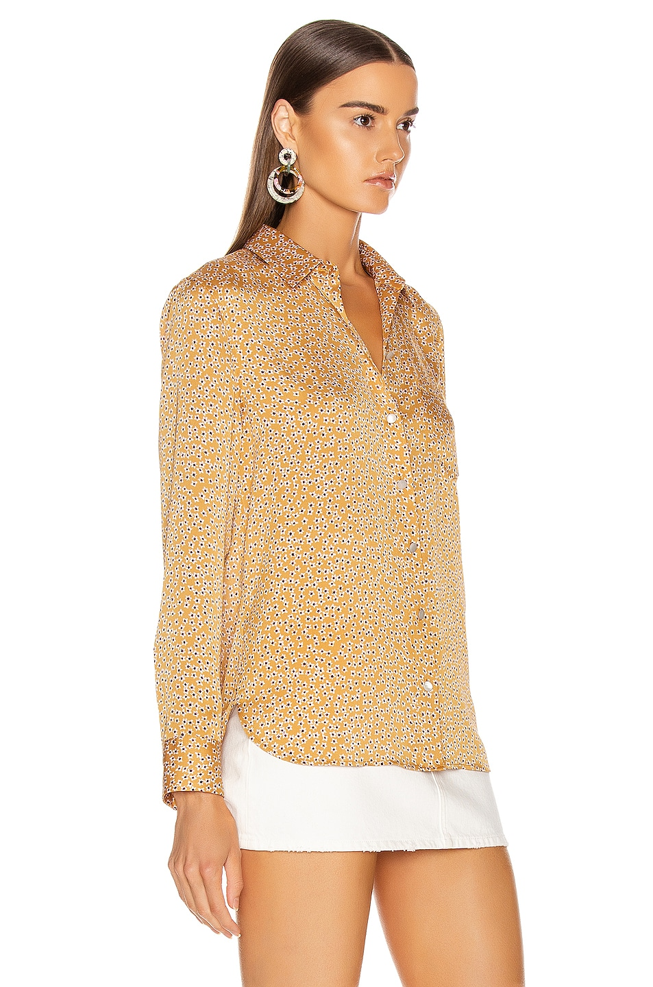 Image 2 of Equipment Leema Pocket Top in Ocre Multi