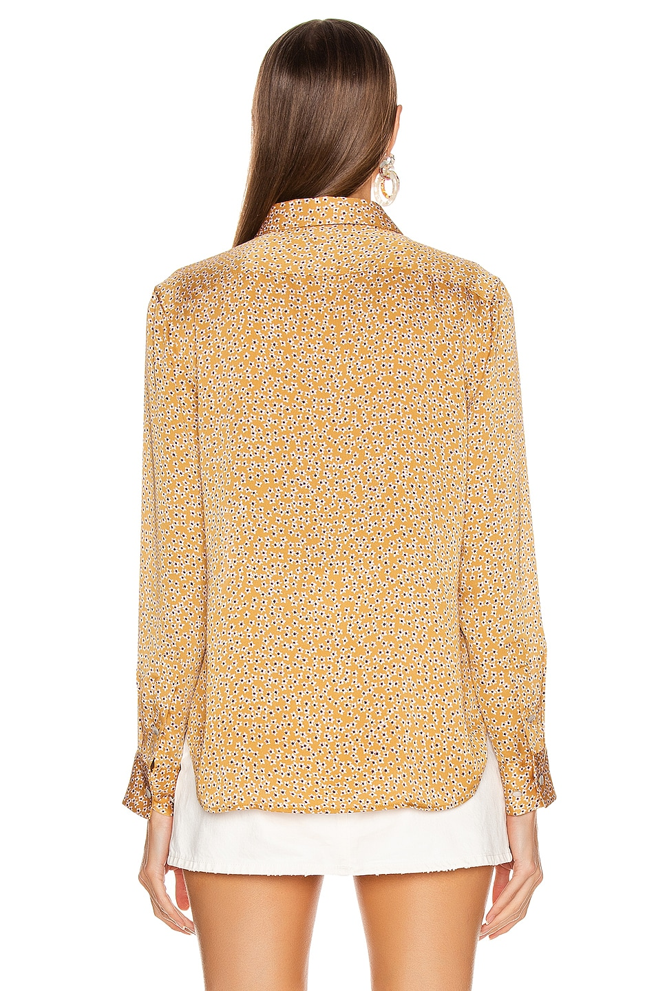 Image 3 of Equipment Leema Pocket Top in Ocre Multi