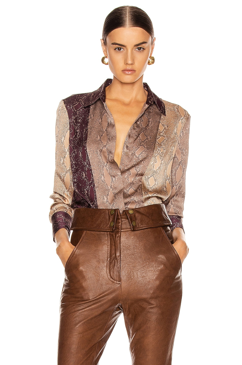 Image 1 of Equipment Yvonet Top in Pine Bark Multi