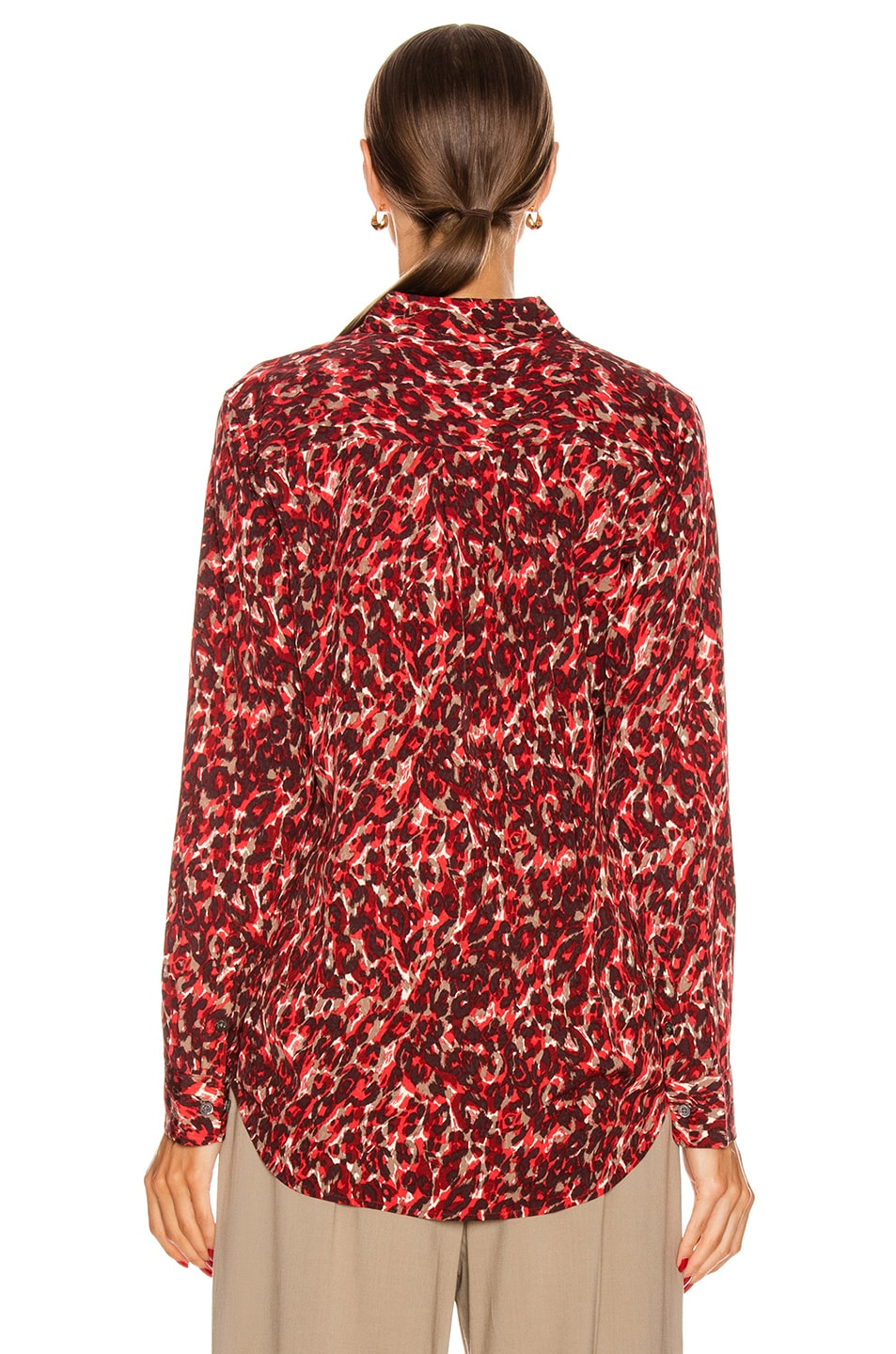 Image 3 of Equipment Slim Signature Top in Merlot Multi