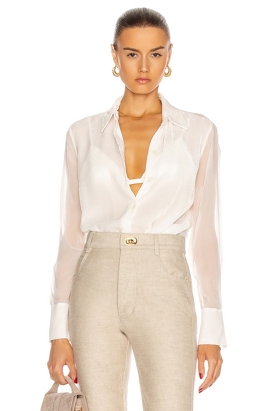Image 1 of Equipment Sedienne Top in Nature White