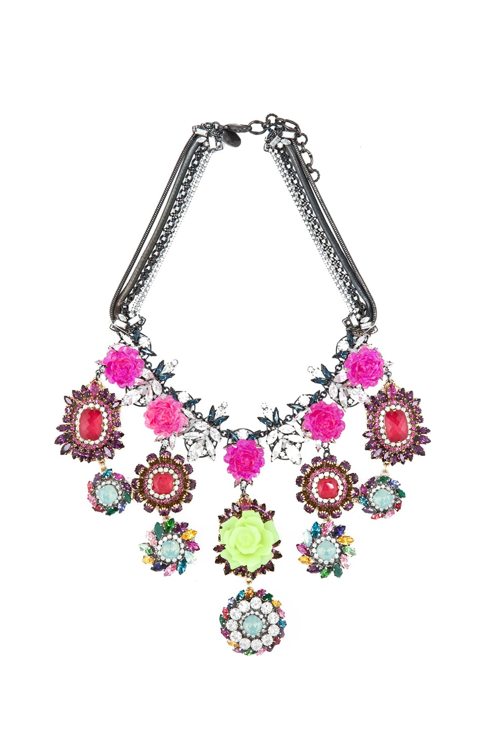 Image 1 of Erickson Beamon Rose Garden Necklace in Multi