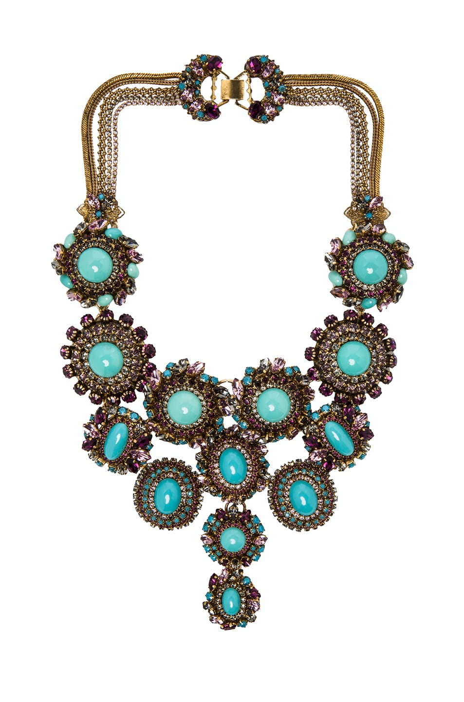 Image 1 of Erickson Beamon Girls on Film Necklace in Turquoise