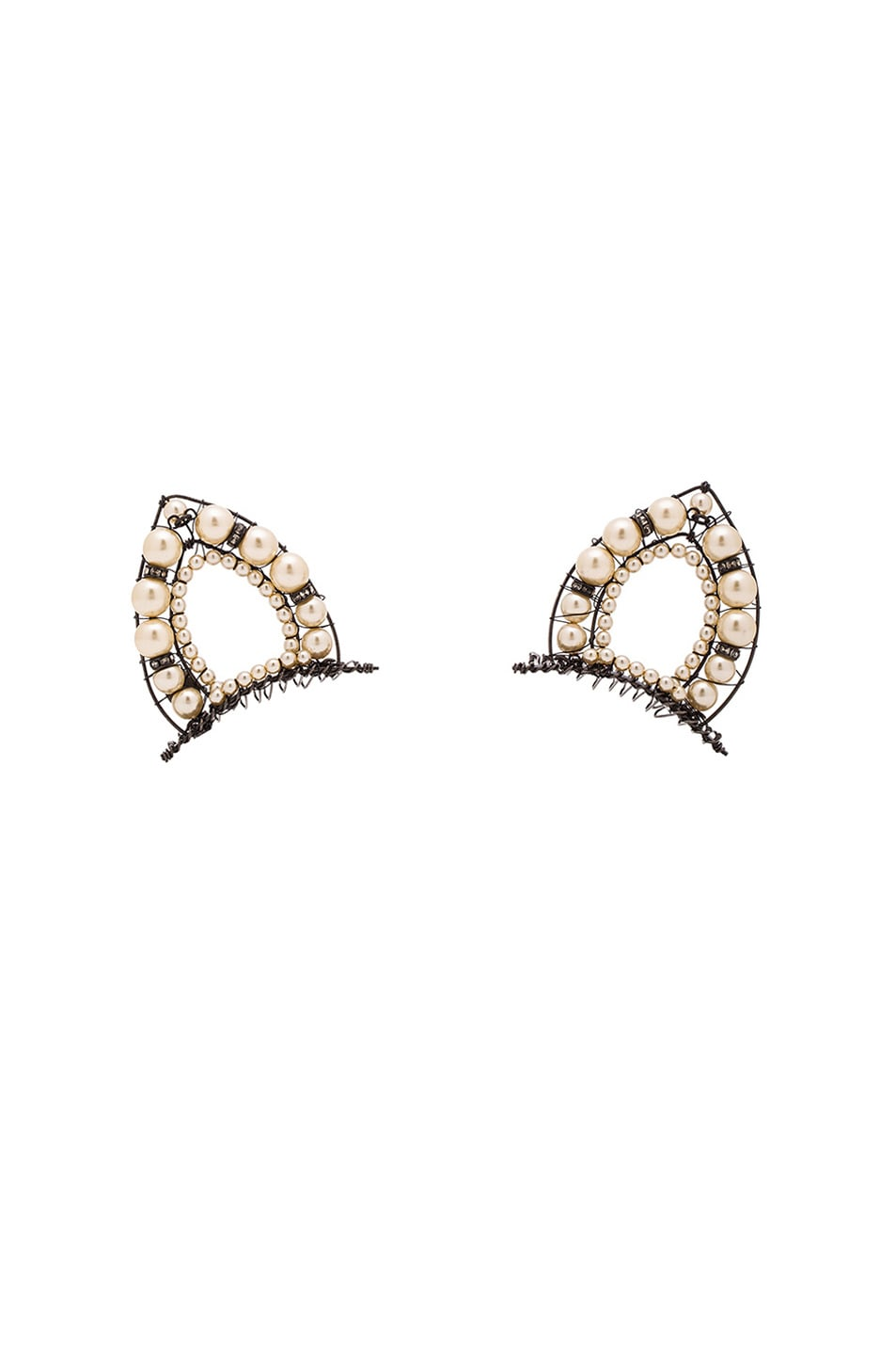 Image 1 of Erickson Beamon Cat Ears in Pearl