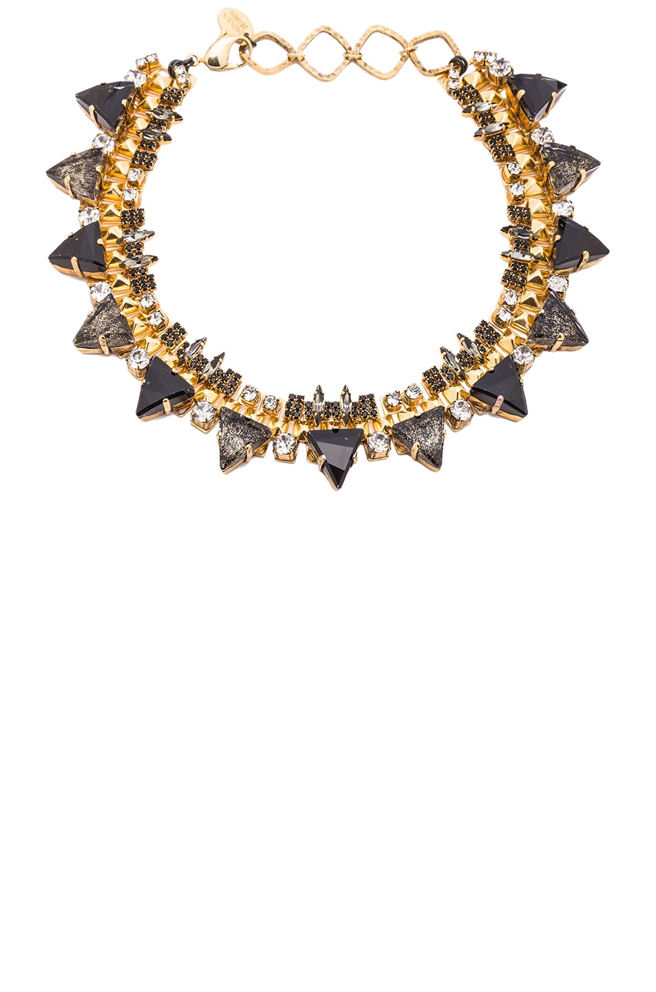 Image 1 of Erickson Beamon Sacred Geometry Choker Necklace in Gold