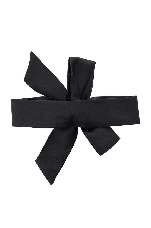 Image 2 of ERTH Silk Neck Scarf Choker in Black