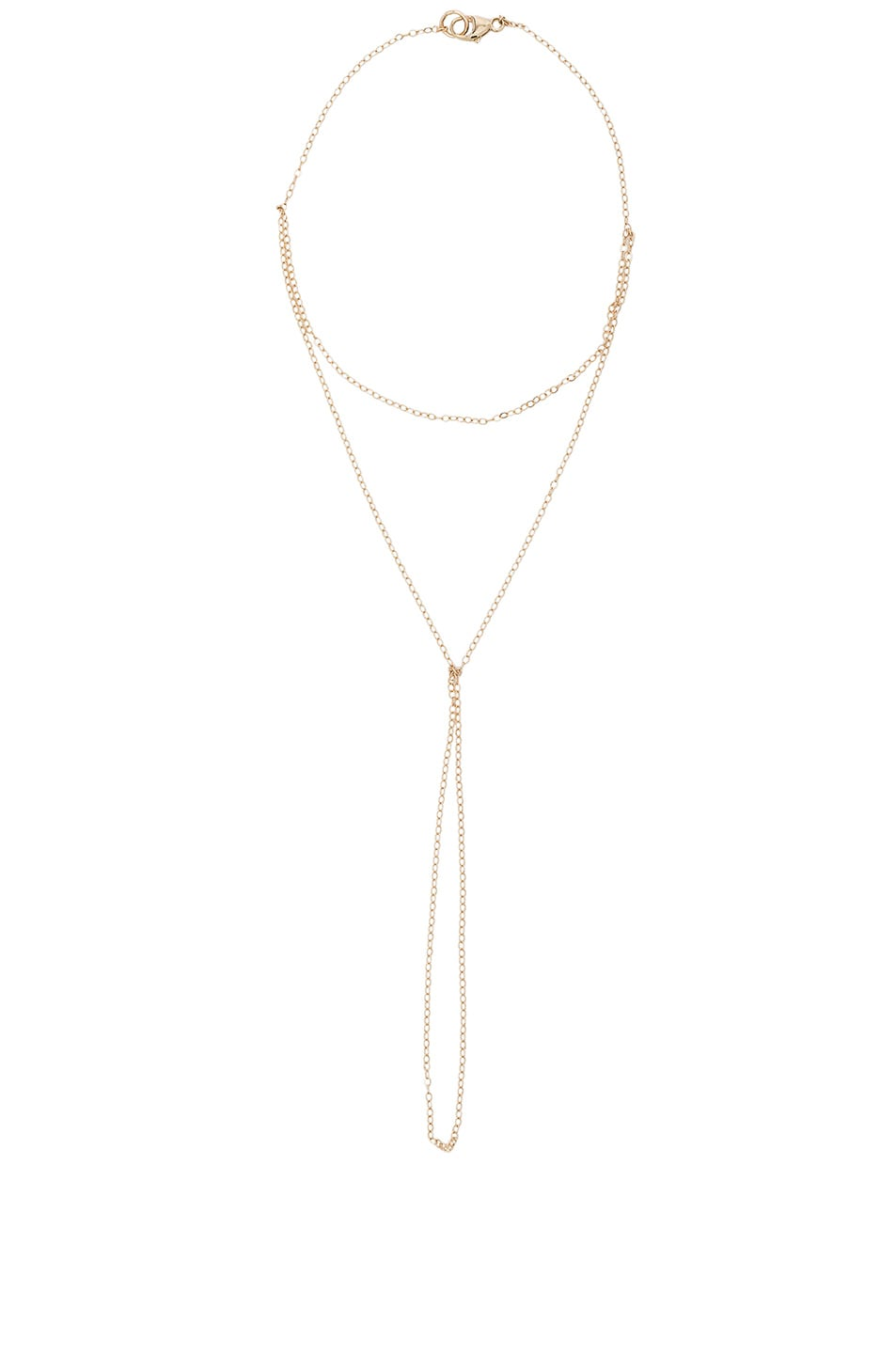 Image 1 of ERTH 14K Gold Hand Chain in Gold