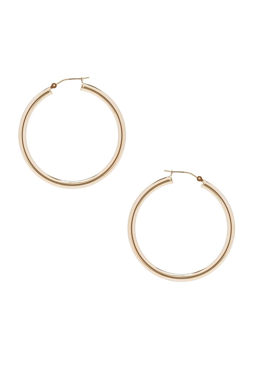 Image 1 of ERTH 14K Gold Hoop X Earring in Gold