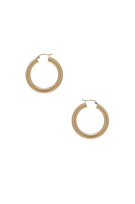 Image 1 of ERTH 14K Gold Hoop XXX Earring in Gold