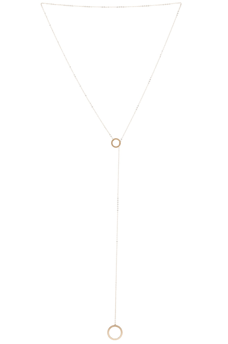 Image 1 of ERTH 14K Gold Drop Ring Necklace in Gold