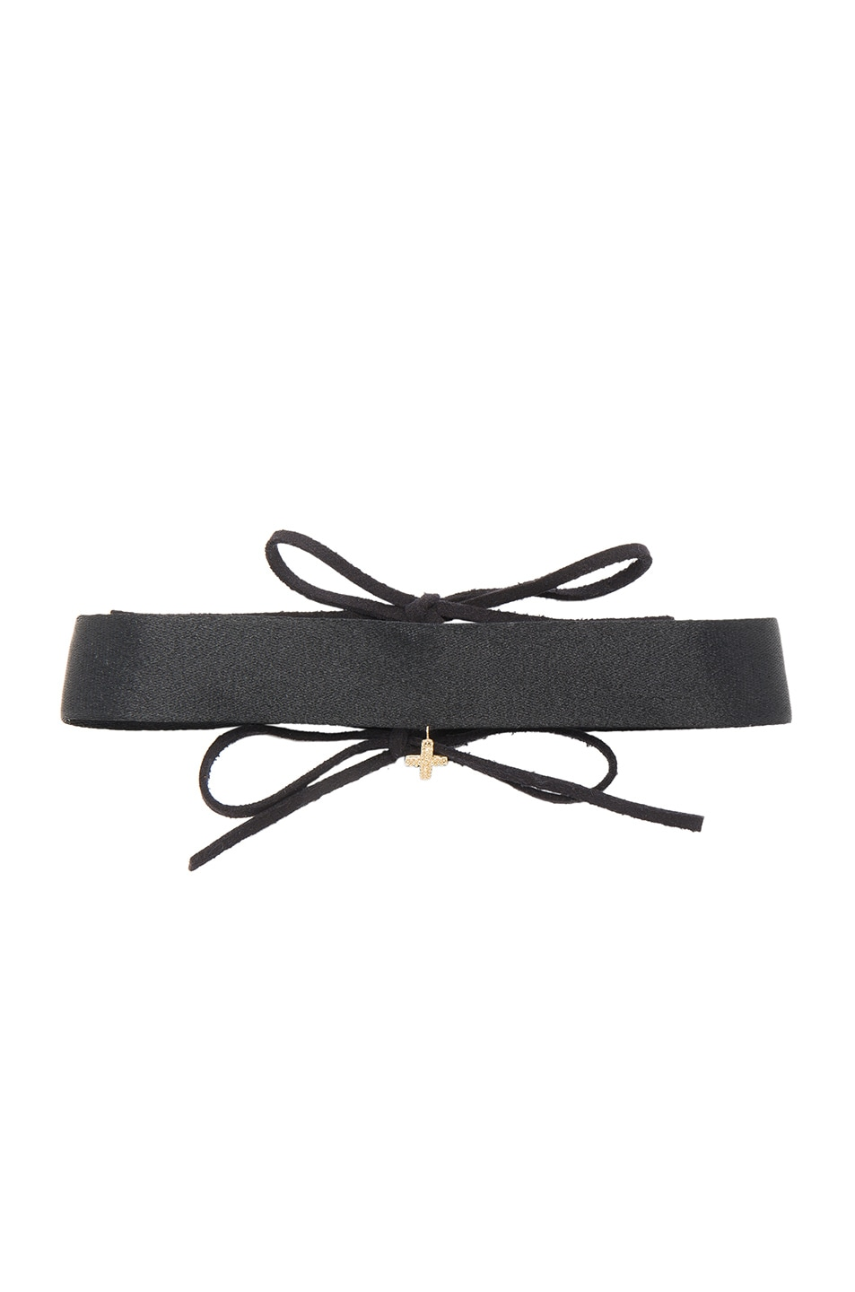Image 1 of ERTH for FWRD Cross Choker in Gold & Black