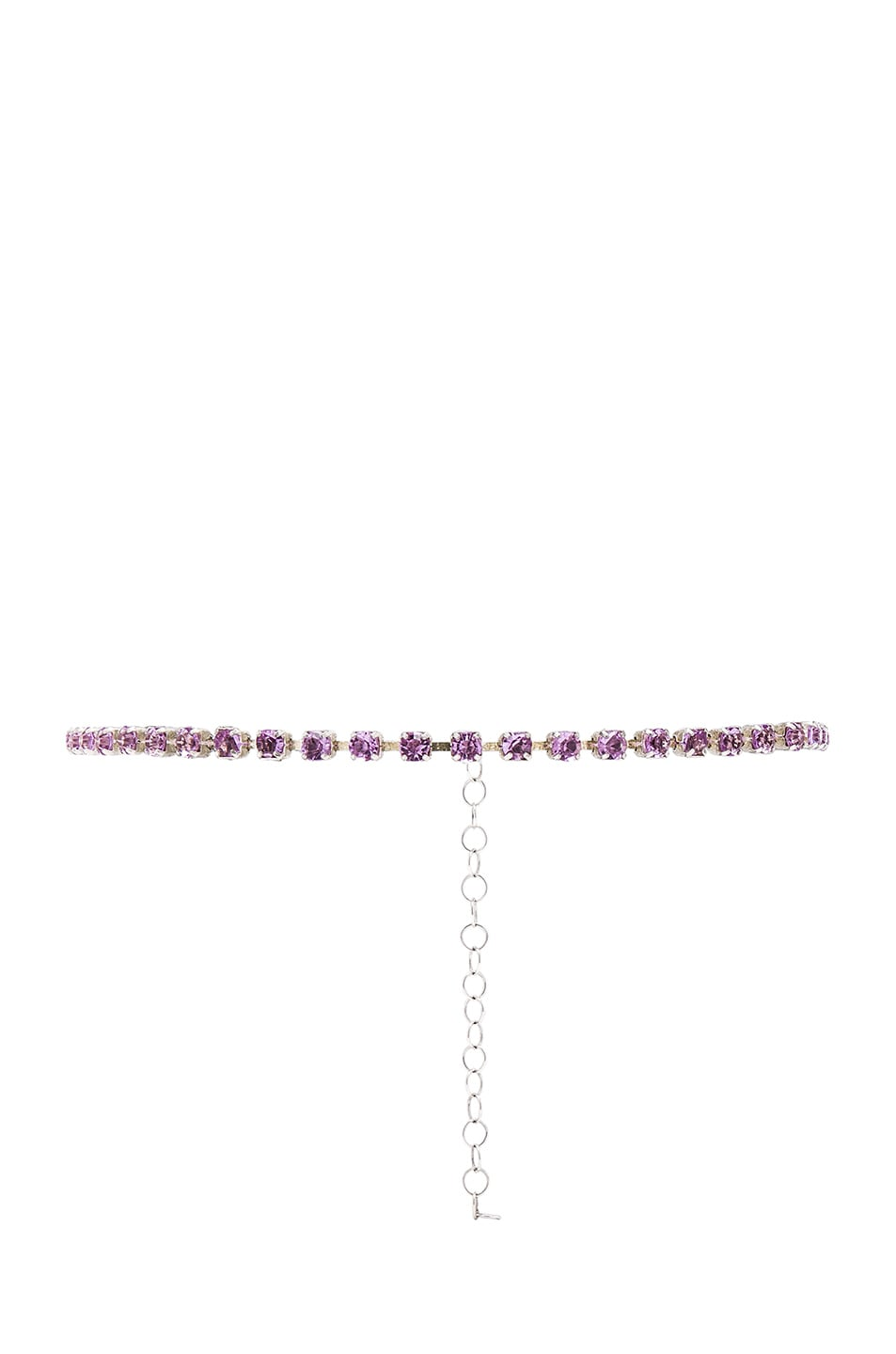 Image 1 of ERTH for FWRD Sterling Silver Crystal Necklace in Pink