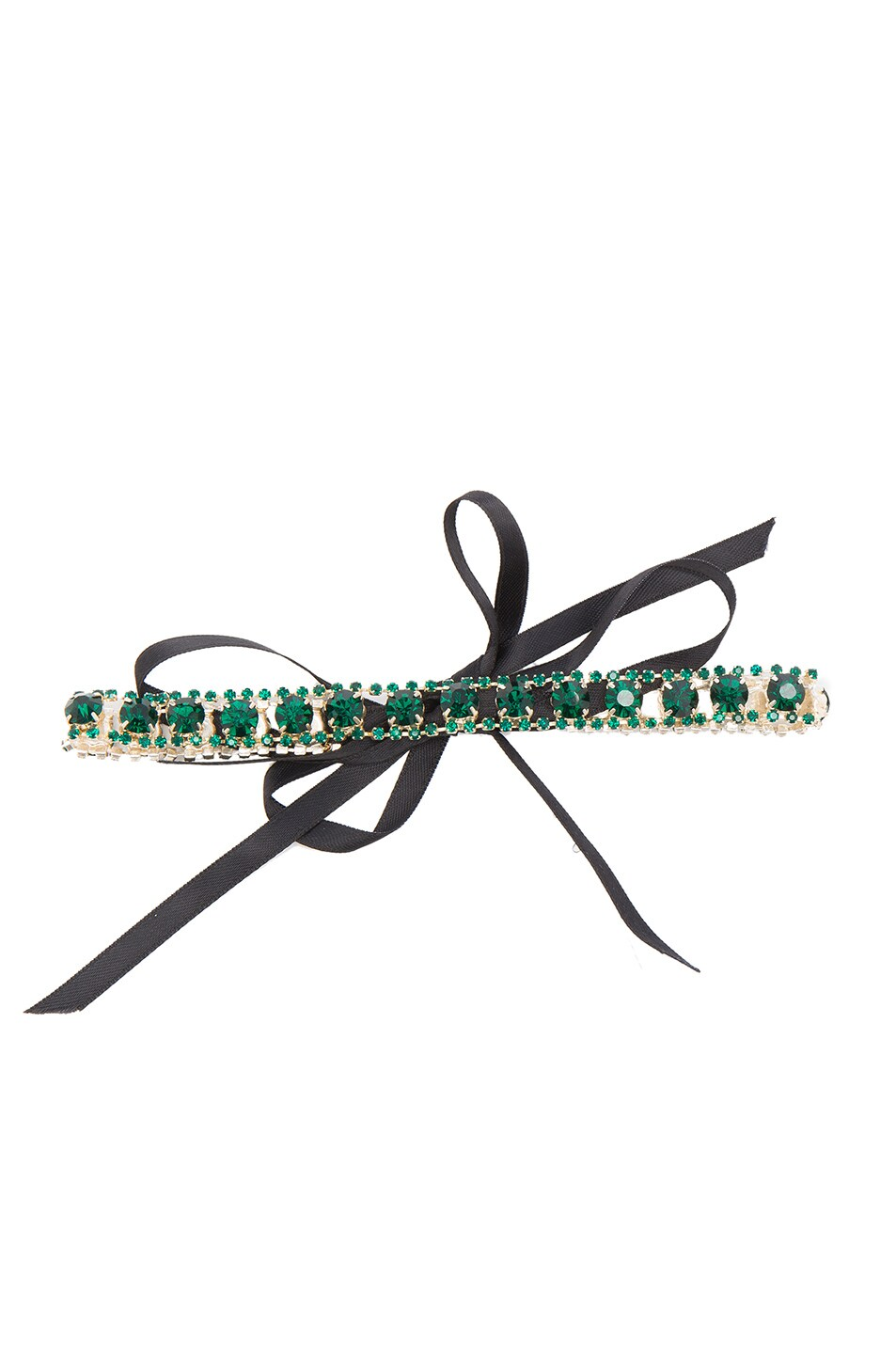 Image 1 of ERTH for FWRD Vintage Crystal Choker in Green Vintage & Black