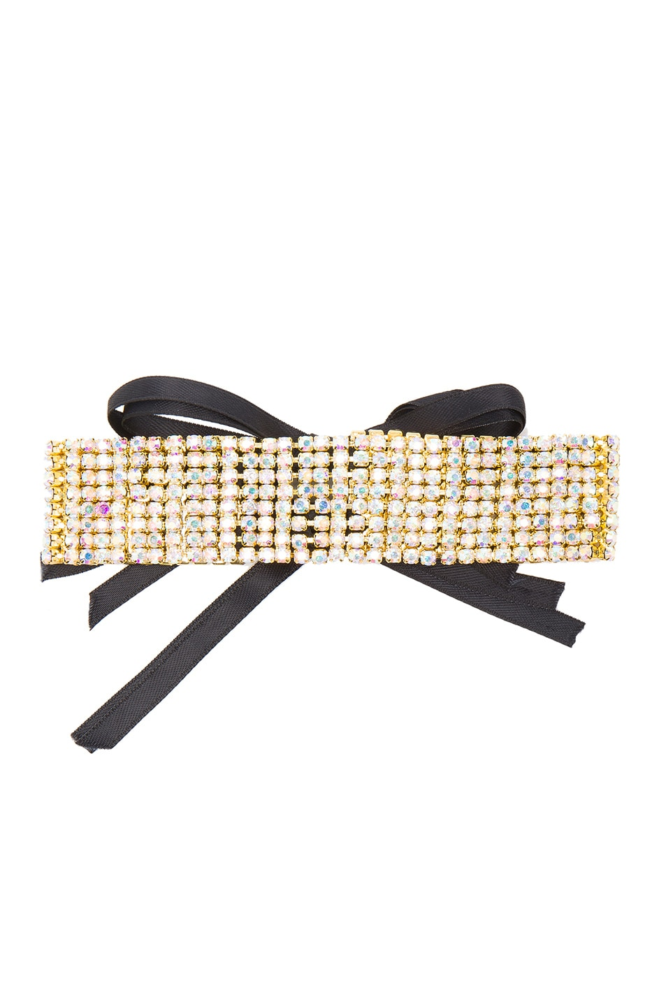 Image 1 of ERTH for FWRD Crystal Choker in Gold & Black