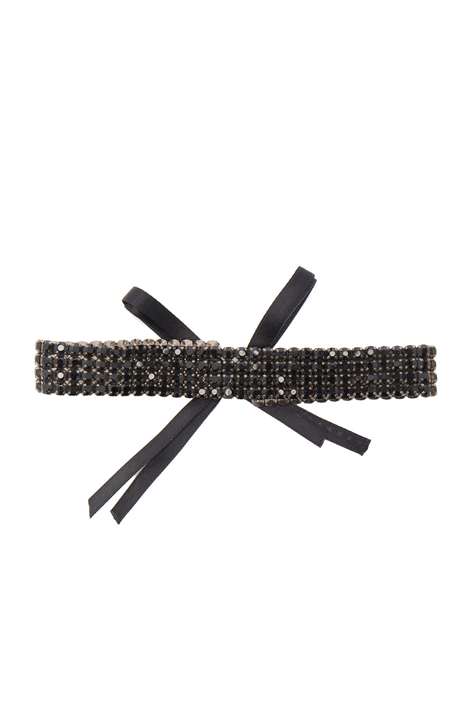 Image 1 of ERTH for FWRD Crystal Choker in Black & Black