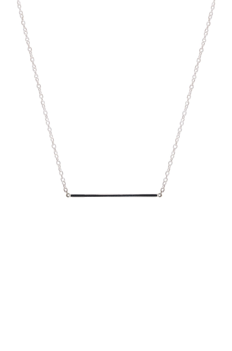 Image 1 of ERTH Bar Necklace in Silver