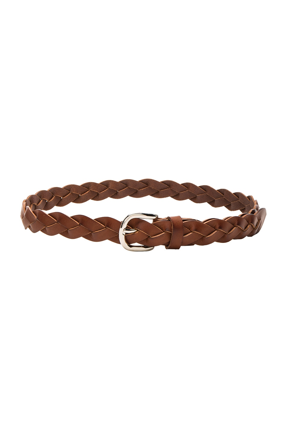 Image 1 of Isabel Marant Etoile Dirk Braided Belt in Chestnut
