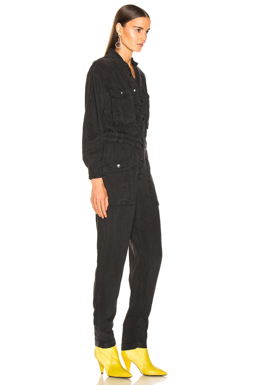 Image 2 of Isabel Marant Etoile Lashay Jumpsuit in Faded Black
