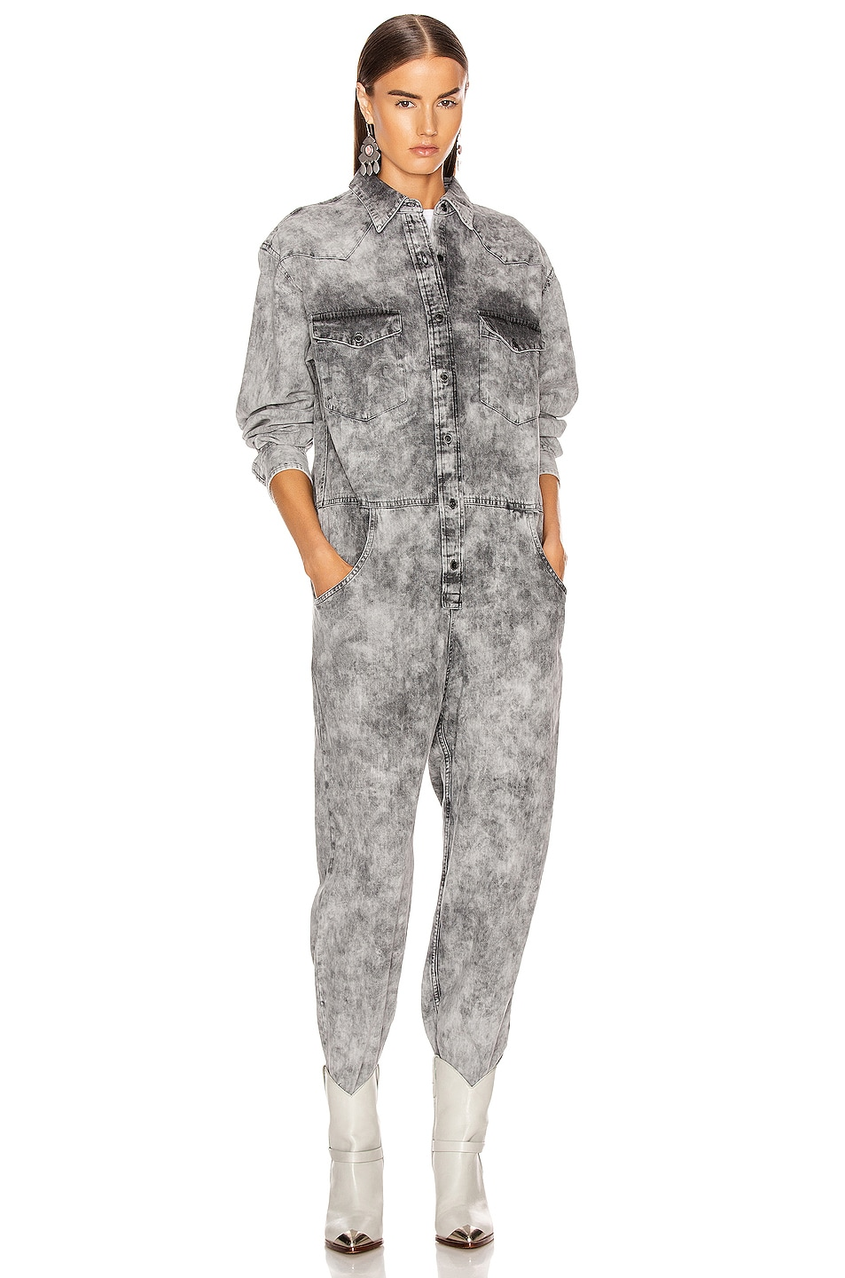 Image 1 of Isabel Marant Etoile Idesia Jumpsuit in Faded Black