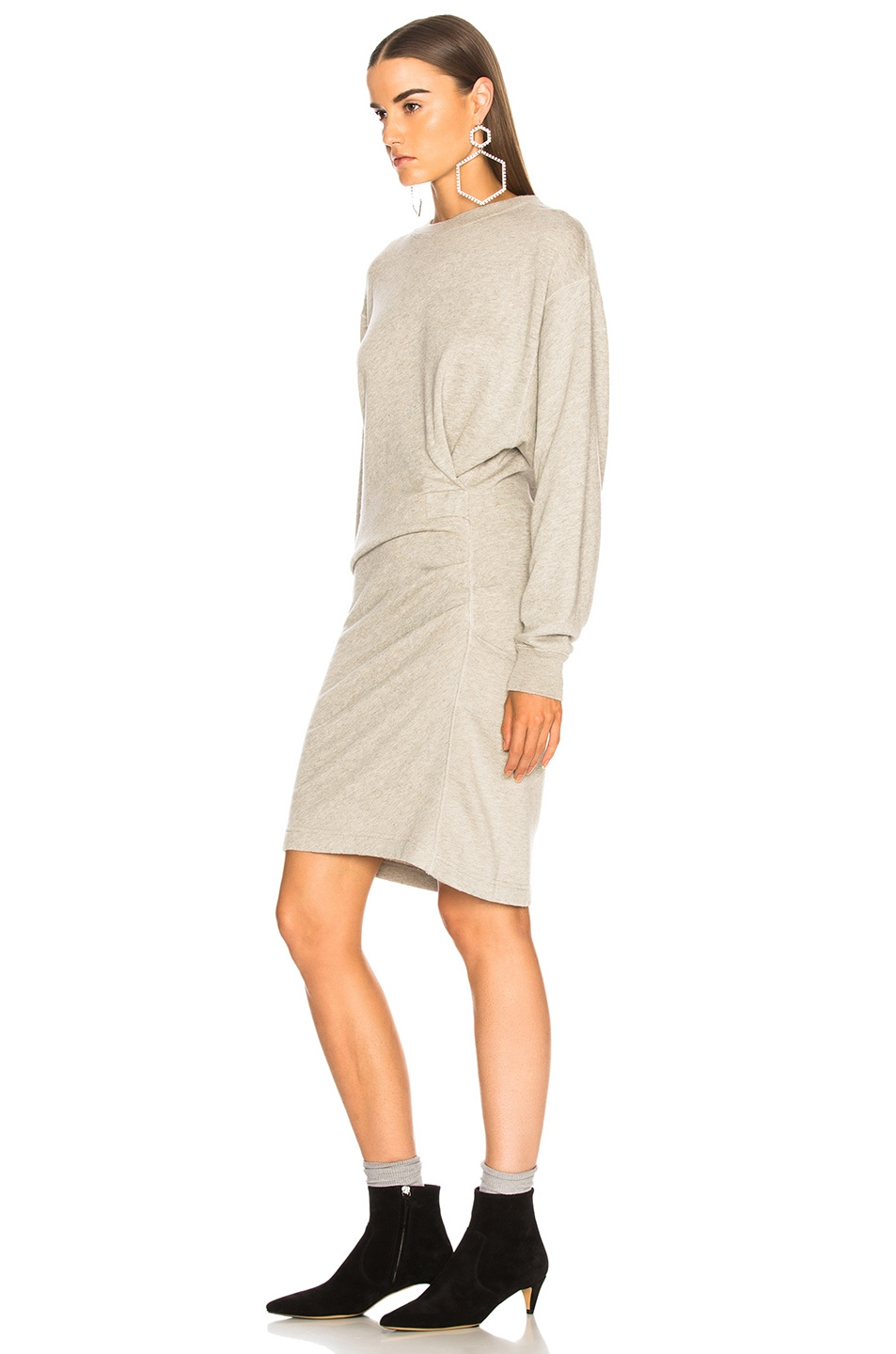 Image 4 of Isabel Marant Etoile Fewlyn Dress in Light Grey