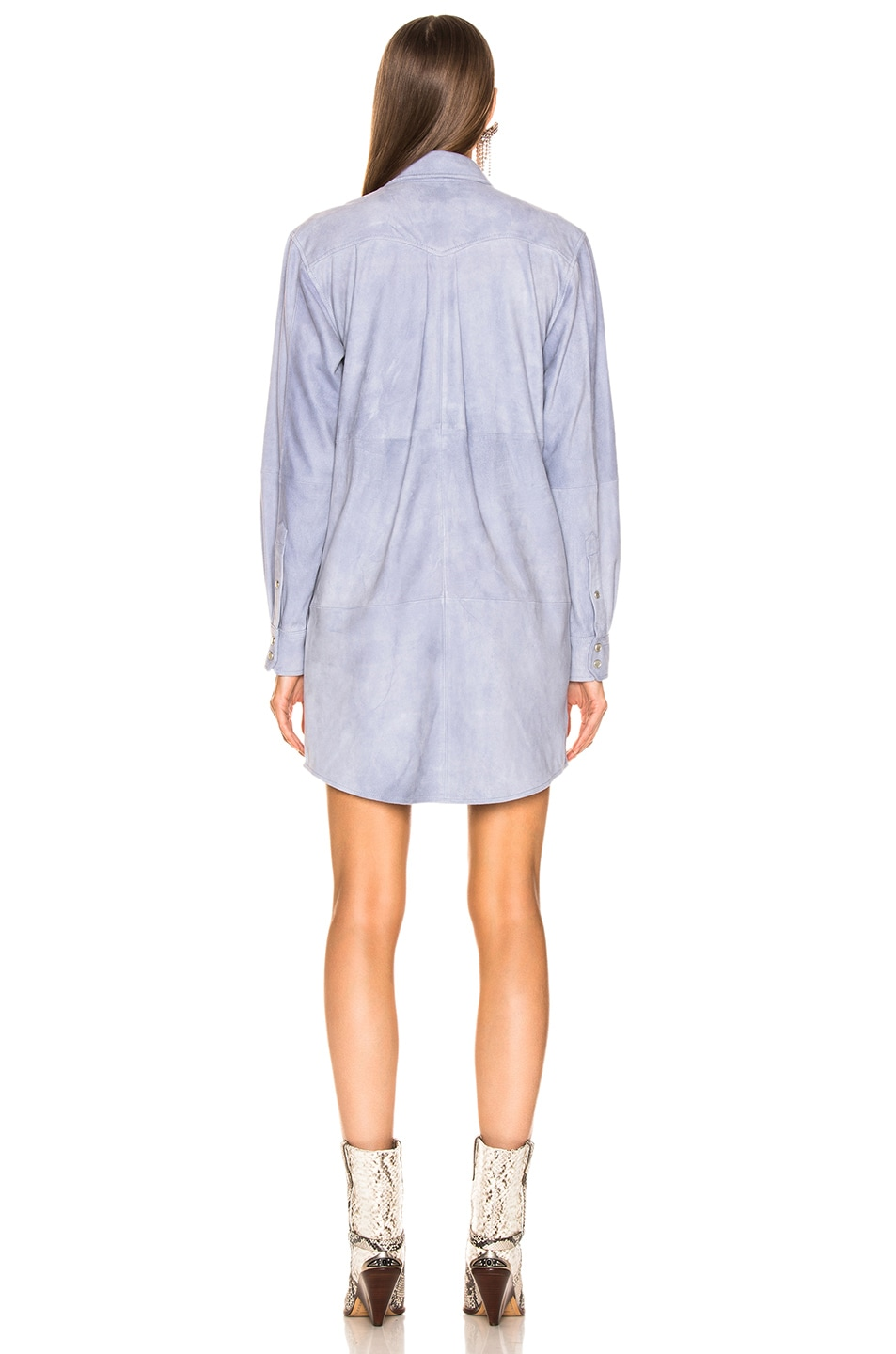 Image 4 of Isabel Marant Etoile Senna Leather Dress in Lavender