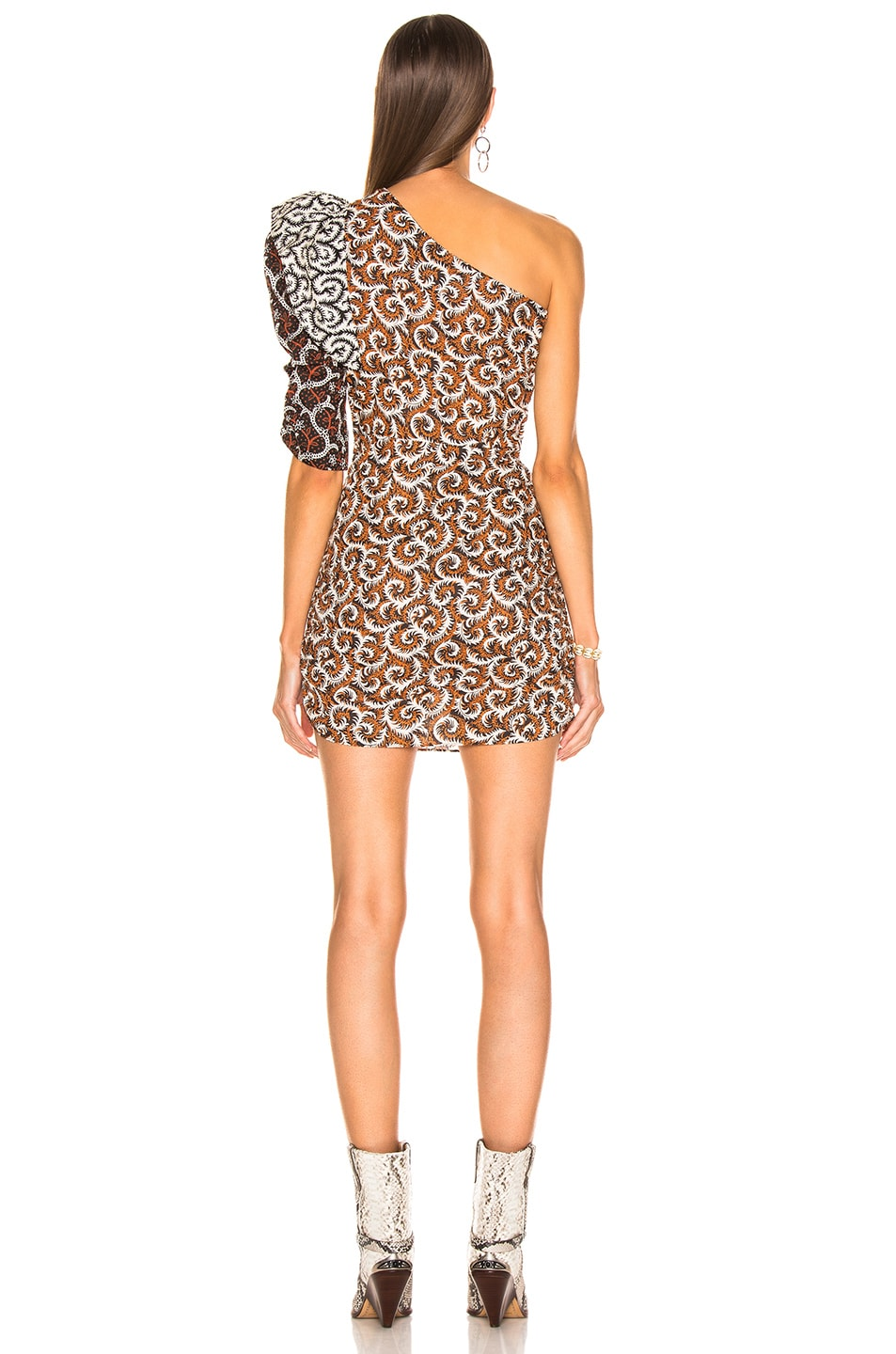 durable modeling Isabel Marant Etoile Lilia Dress Rust