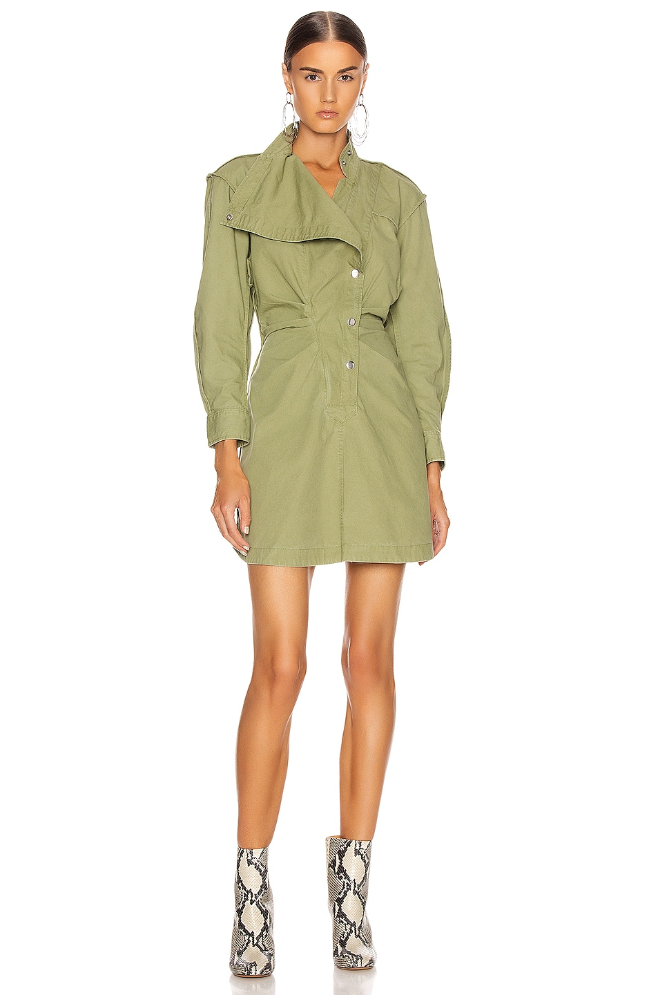 Image 1 of Isabel Marant Etoile Linore Dress in Khaki