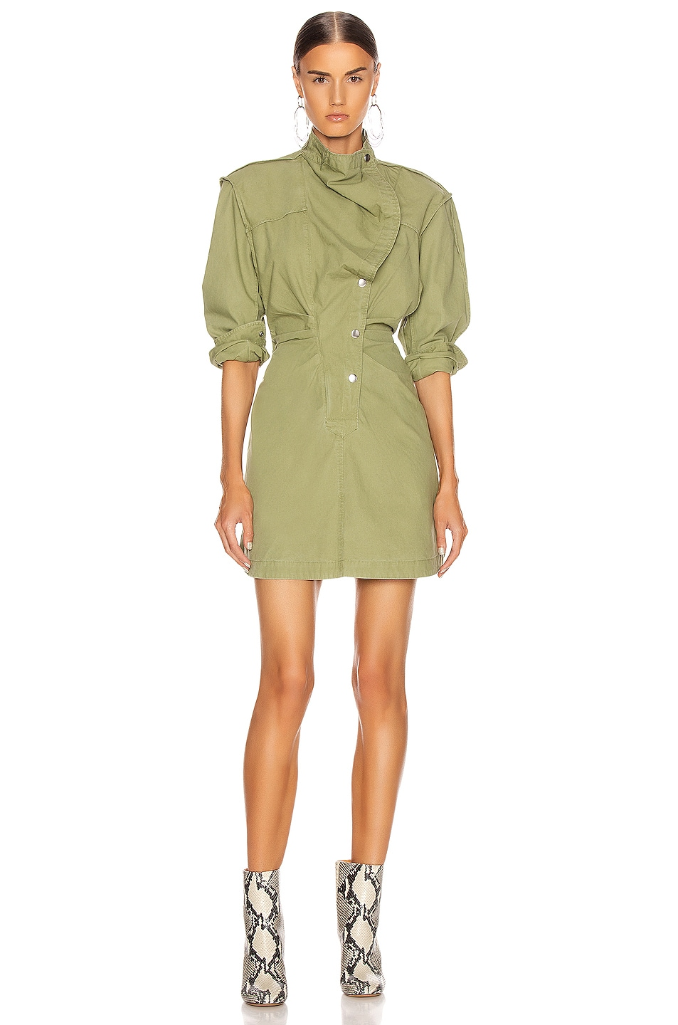 Image 2 of Isabel Marant Etoile Linore Dress in Khaki