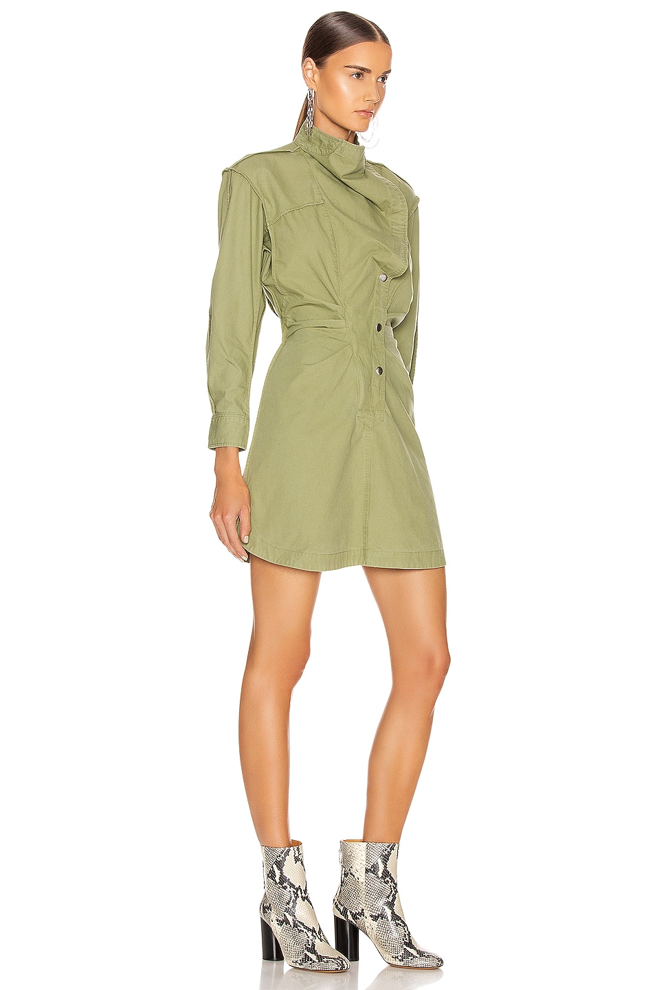 Image 3 of Isabel Marant Etoile Linore Dress in Khaki