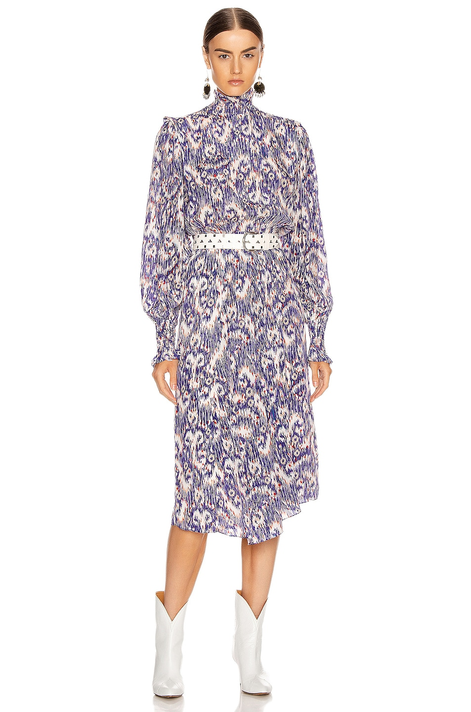 Image 1 of Isabel Marant Etoile Yescott Dress in Blue