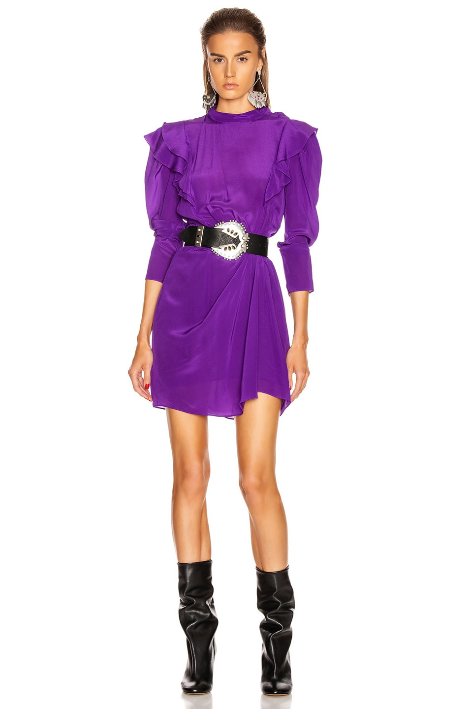 Image 1 of Isabel Marant Etoile Yoana Dress in Purple