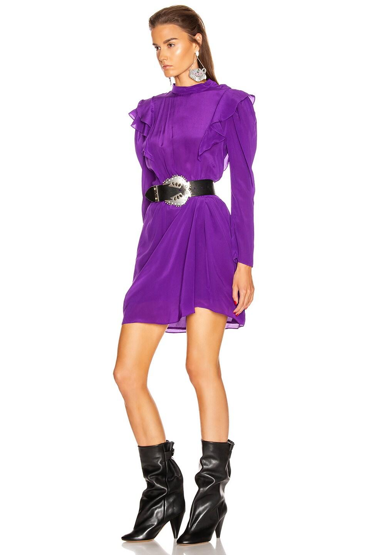 Image 3 of Isabel Marant Etoile Yoana Dress in Purple