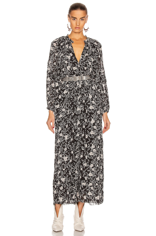 Image 1 of Isabel Marant Etoile Estine Dress in Black & Ecru