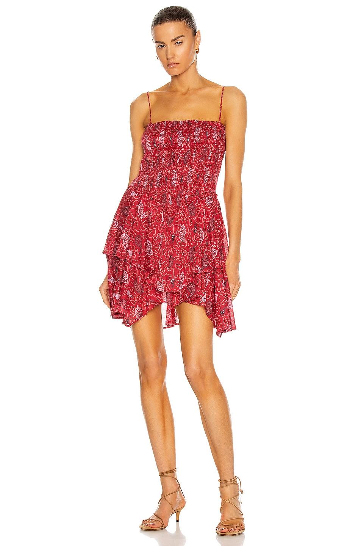 Image 1 of Isabel Marant Etoile Anka Dress in Red