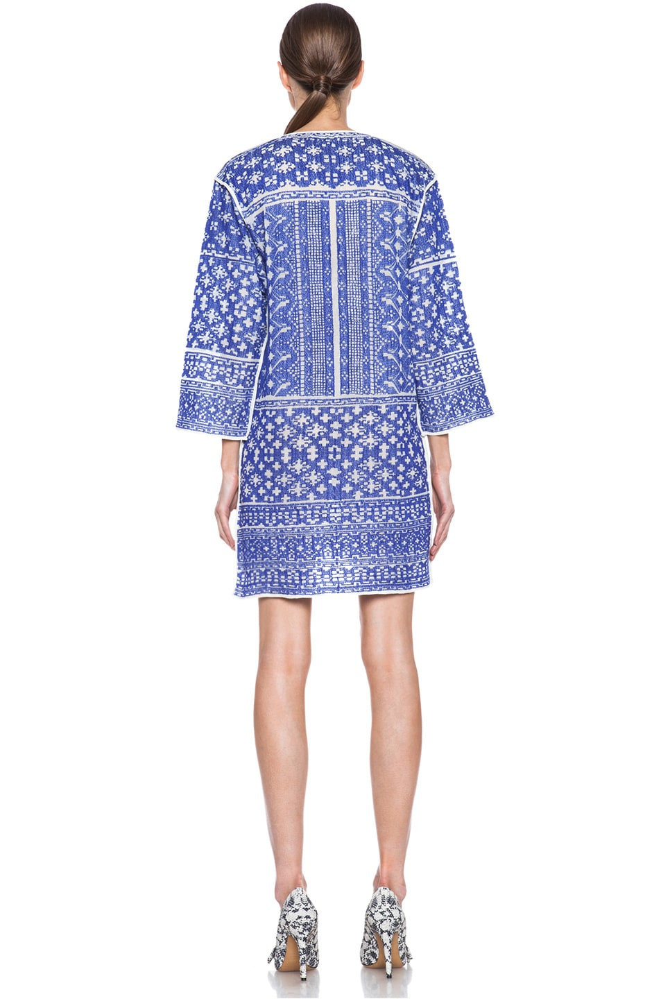 Image 4 of Isabel Marant Etoile Bloom Knit Dress in Blue