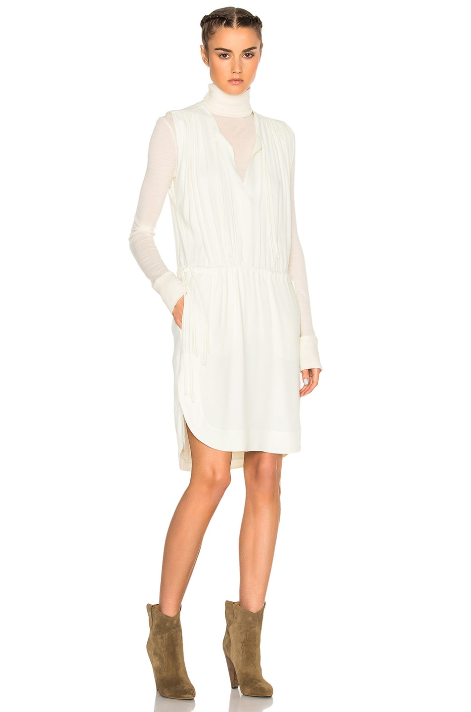 Image 1 of Isabel Marant Etoile Nicky Heavy Crepe Dress in Ecru
